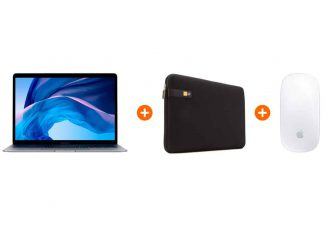 Goedkoop Pakket voor onderweg - Apple Macbook Air (2020) MWTJ2N/A Space Gray + Wit laptop kopen